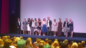 London Gala screening cast and crew on stage